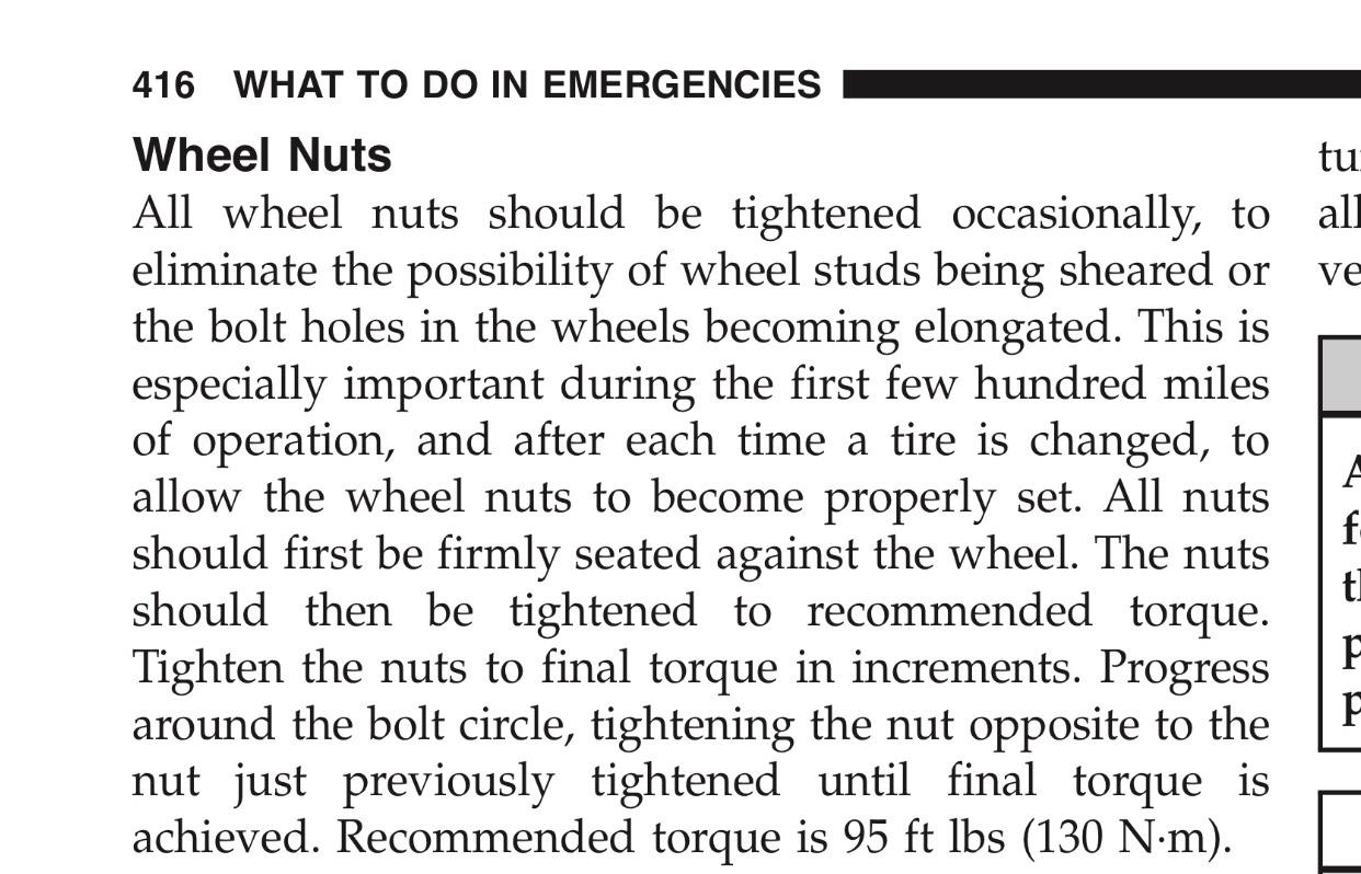VWVortex.com - 2010 VW Routan - What is the proper torque for lug nuts?