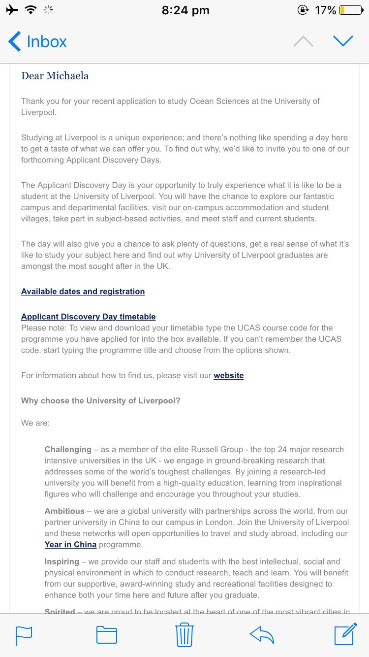 Liverpool Medicine A100 2017 Entry Applicants Page 9