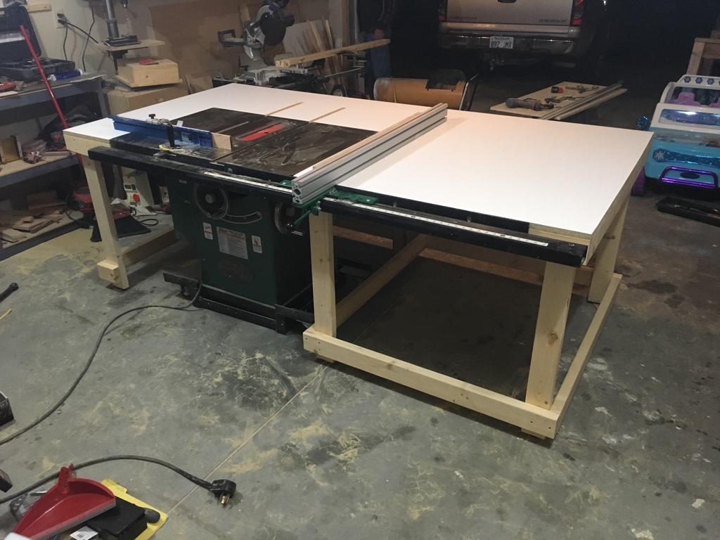 New Table Saw Outfeed Table Woodworking Talk Woodworkers Forum