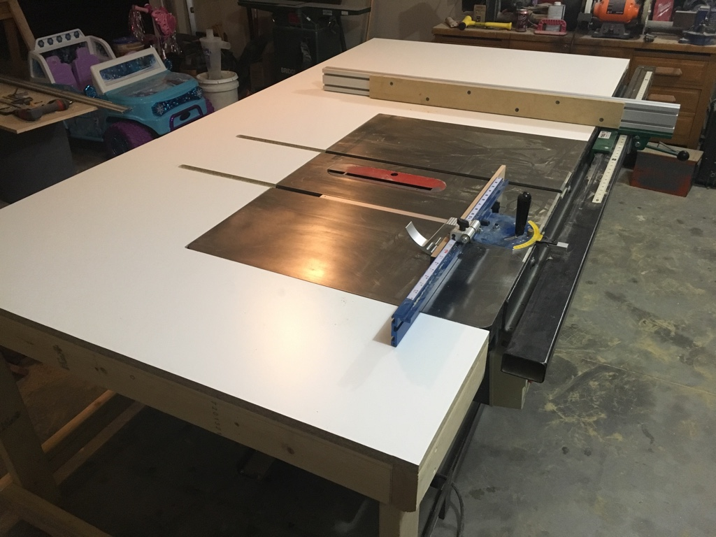 Woodworking Talk Woodworkers Forum New Table Saw Outfeed Table