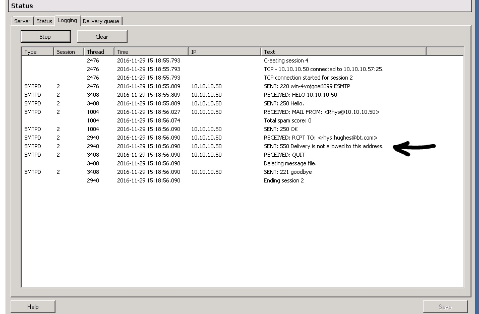SMTP RELAY issues & hit a brick wall