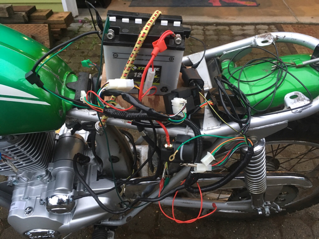 1972 sl100 lifan 200cc 163fml engine swap and 12v upgrade i put a little go juice in the tank and fired it up a little video is linked below