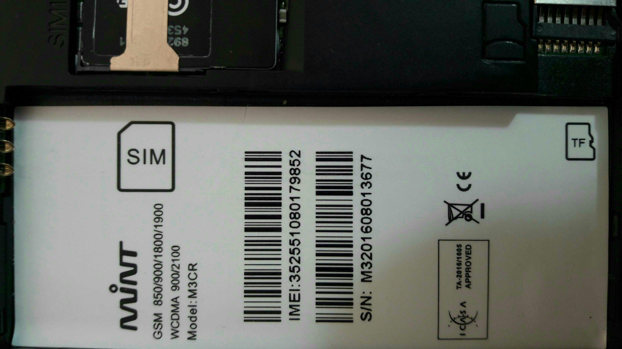 New phone MINT m3cr frp [ANS]WERED - GSM-Forum