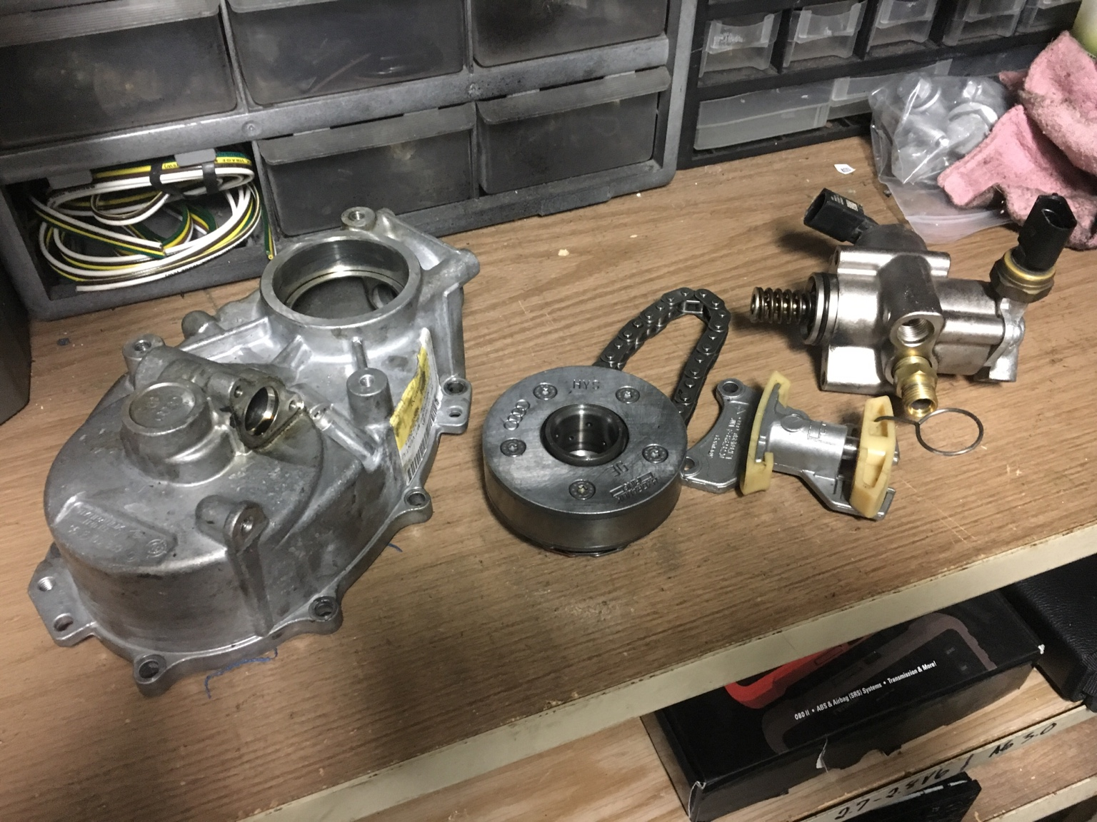 FSI parts timing chain cover, HPFP, chain, etc - VW GTI