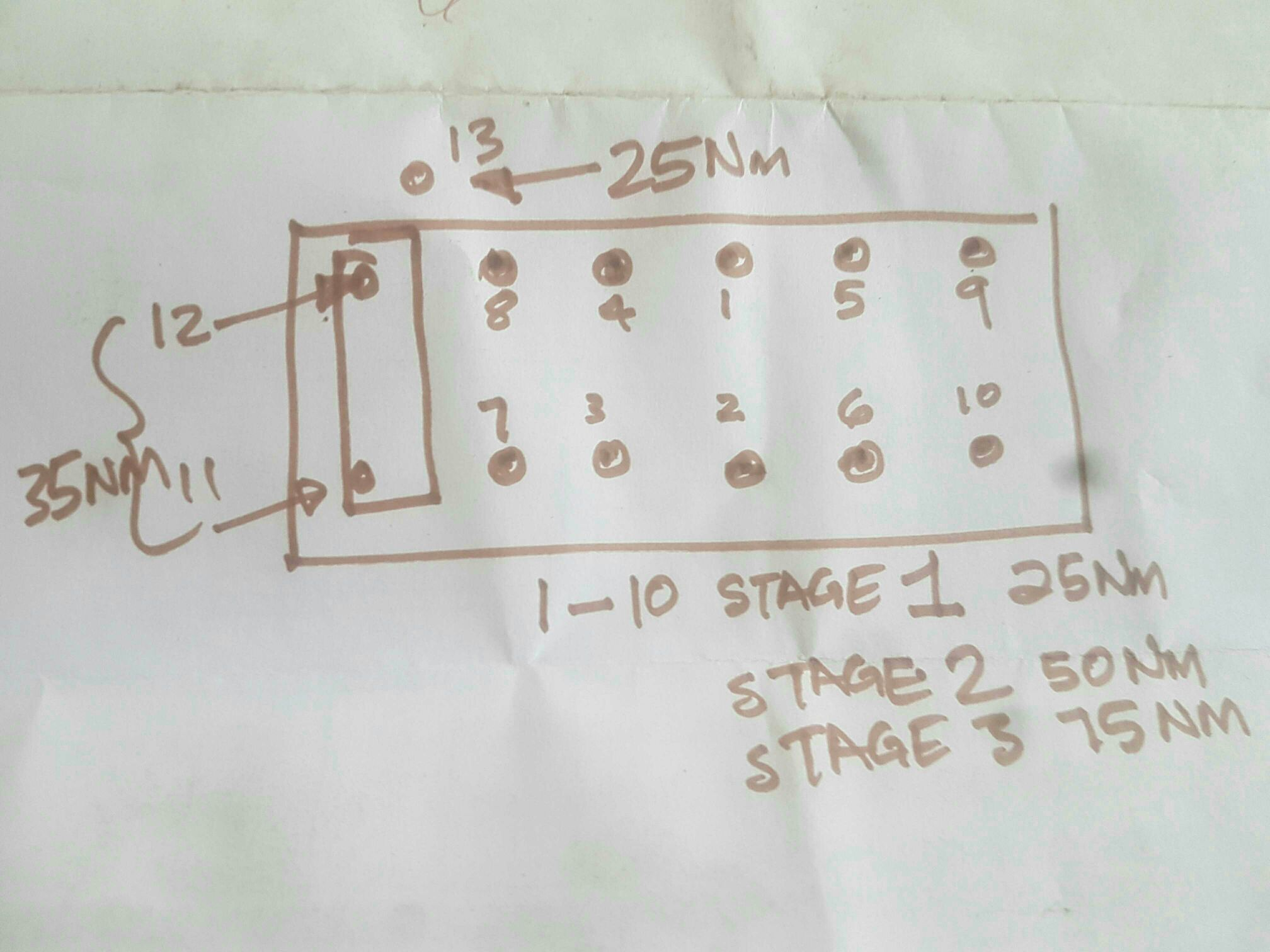 mini cylinder head tightening sequence