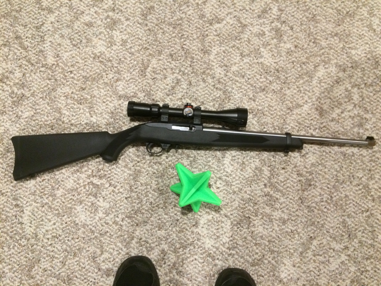 10/22 barrel with iron sights for easy swap to scope