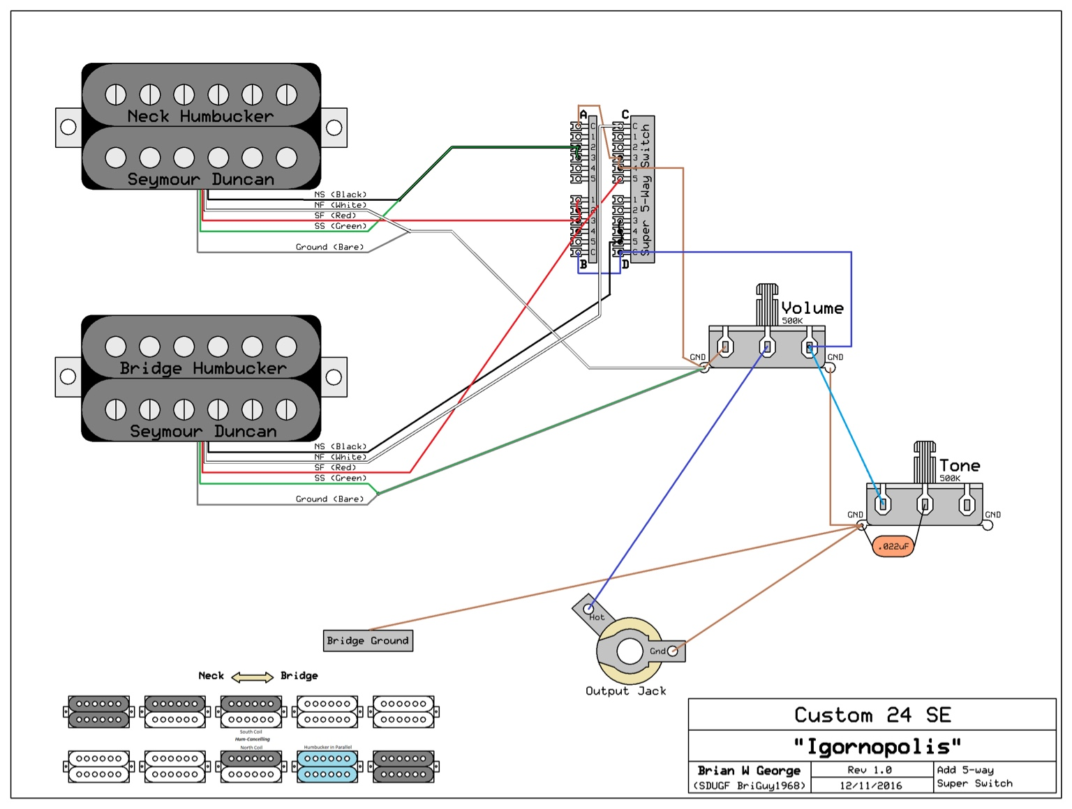 5 way super switch wiring help rh seymourduncan com fender 5 way super switch wiring diagram Fender HSS Wiring-Diagram