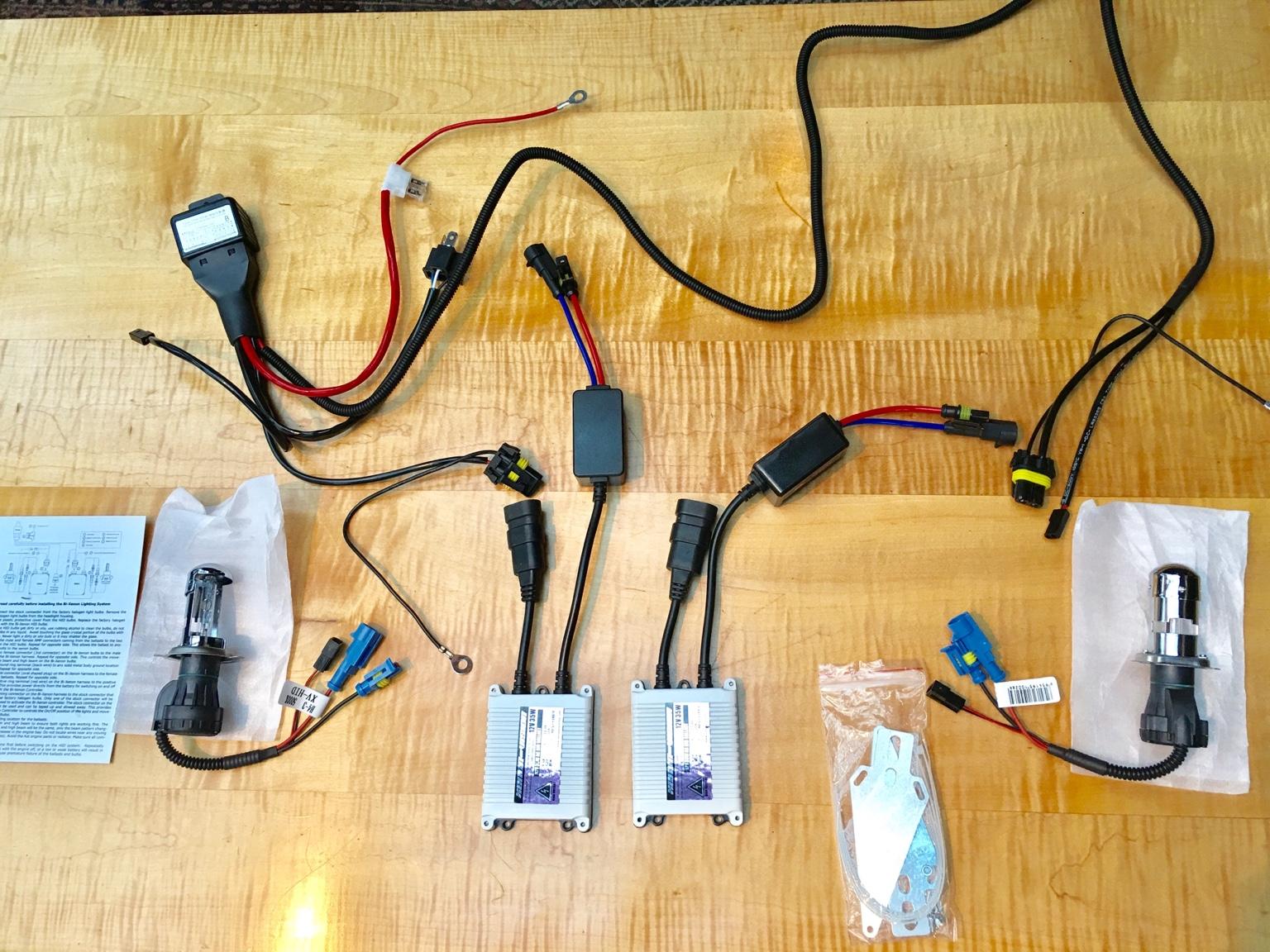 Xenon-Vision's bi-xenon HID conversion plug n play kit install and on