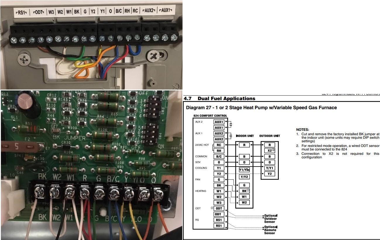 wiring additionally trane furnace wiring diagram on trane xv95 trane furnace filter location trane xl824 a 2 stage stat rh hvac talk com