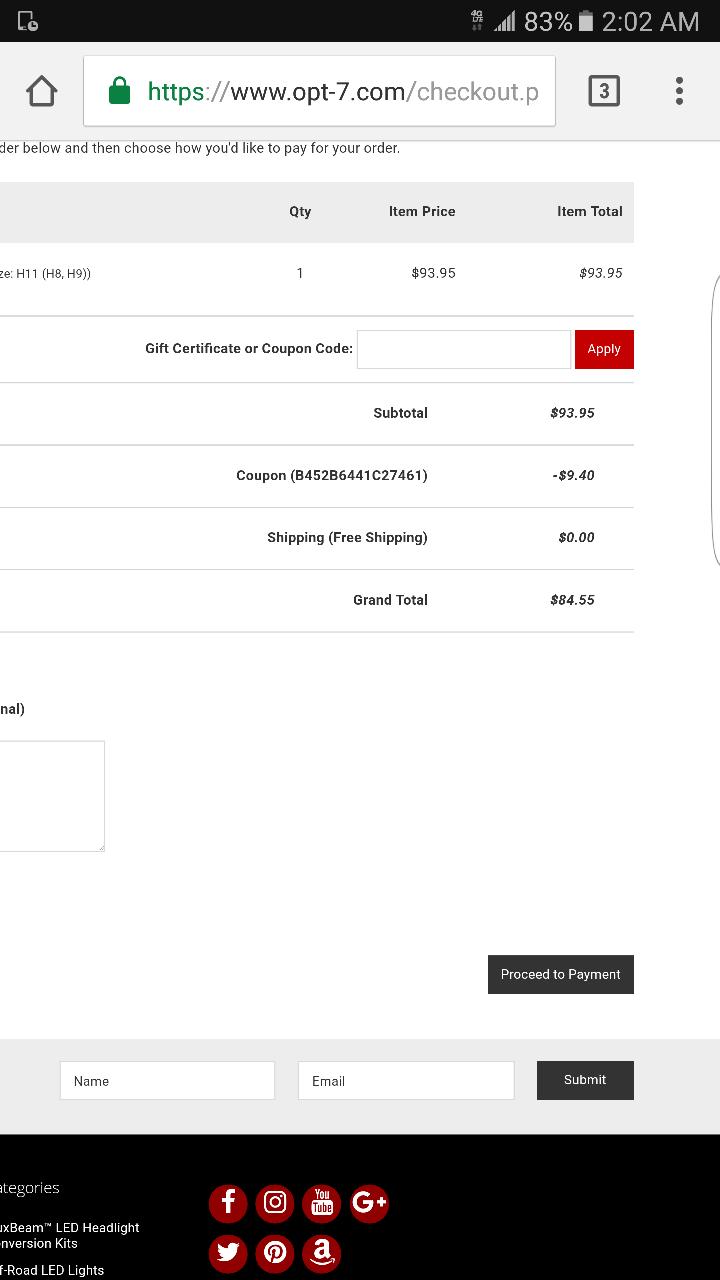 Opt7 coupon code