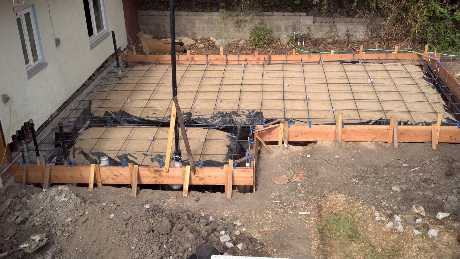 Attaching Driveway With Pier And Beam Foundation
