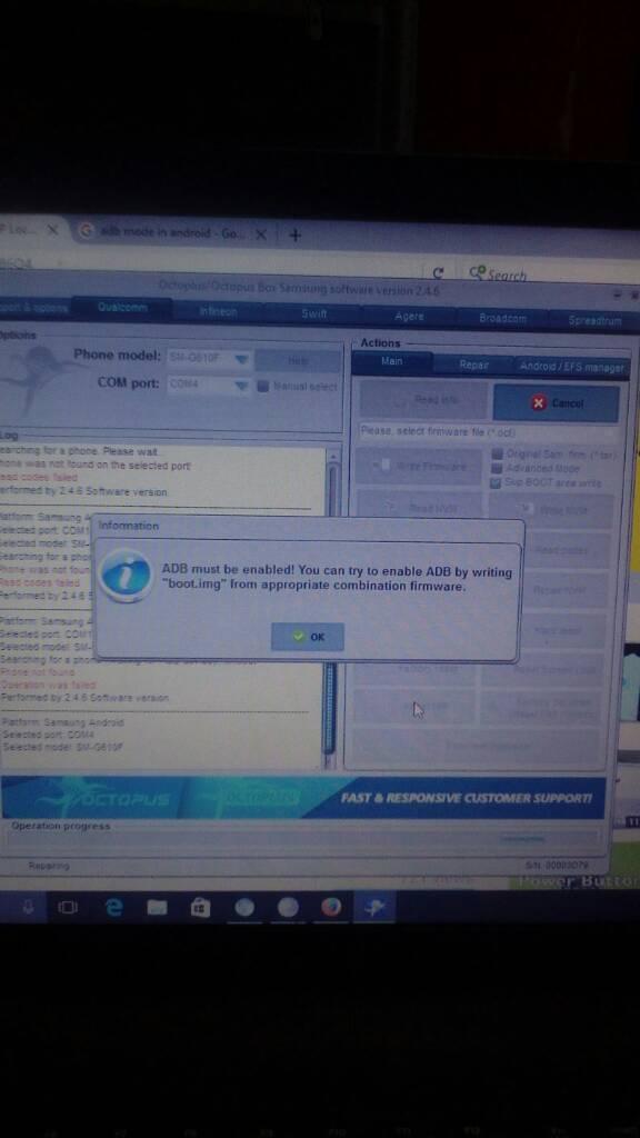 Samsung j7 prime SM-G610F FRP UNLOCK SOLUTION WITH OCTOPUS SAMSUNG BOX