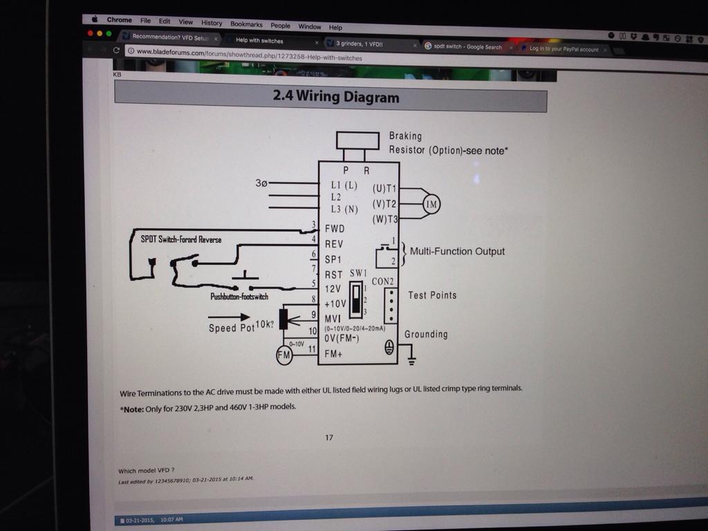 Vfd Setup For Controlling Multiple Machines Bladeforums Com