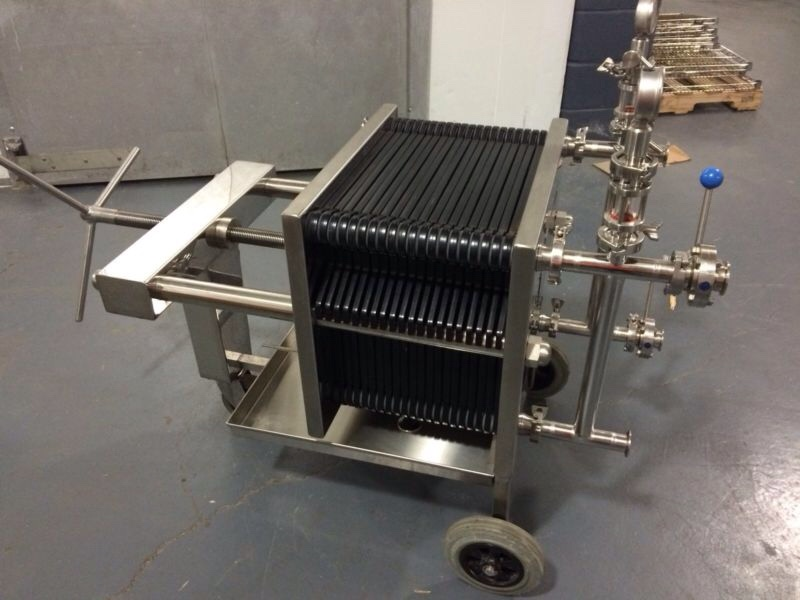 40x40 Plate And Frame Filter Press With 20 Plates 3 500