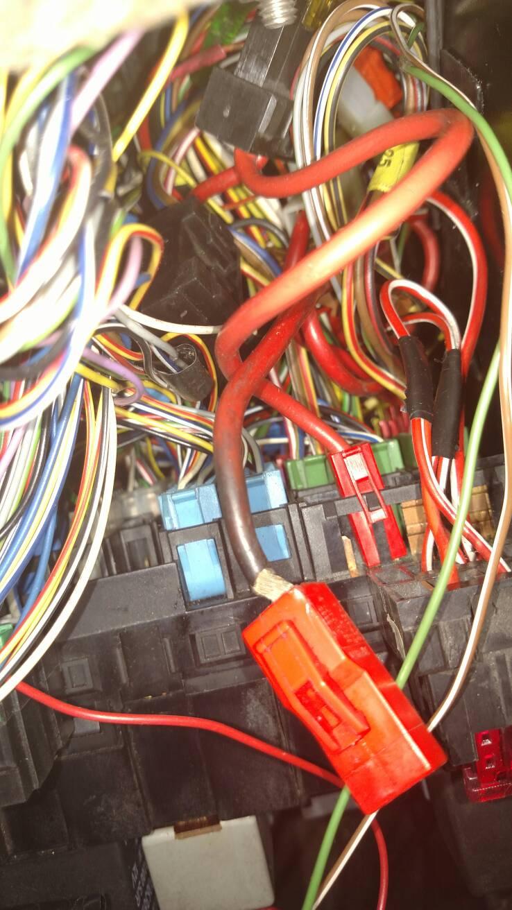 VWVortex.com - Adding a fuse to fusebox main power on