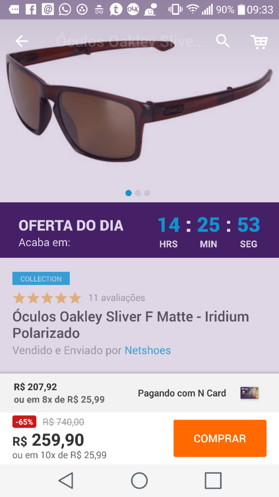 NETshoes  Óculos Oakley à partir de R 200 + cupom de 20% - Página 14 a44cb6baf1