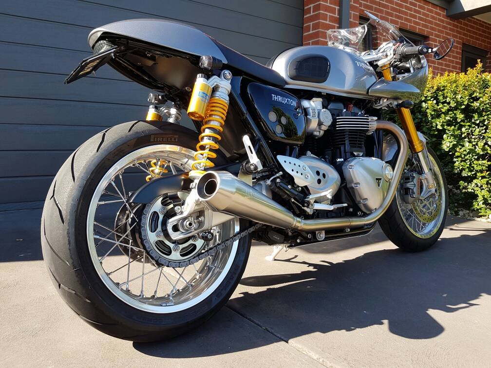 thruxton r exhaust options rolling updates archive page 3 triumph forum triumph rat motorcycle forums