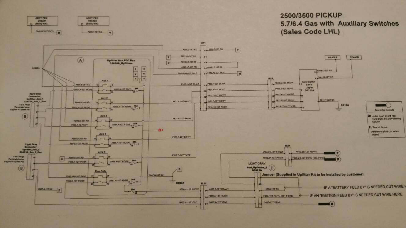 2012 dodge auxiliary switches wiring diagram diy - add auxiliary switches to a 2016 ram 2500 tradesman ... 2012 dodge ram headlight wiring diagram