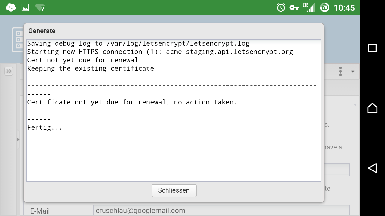 Openmediavault letsencrypt page 13 plugins openmediavault certificate is okay but if i choose it in the main settings i got this error regenerating tells certificate is okay hint i use backports kernel 1betcityfo Image collections