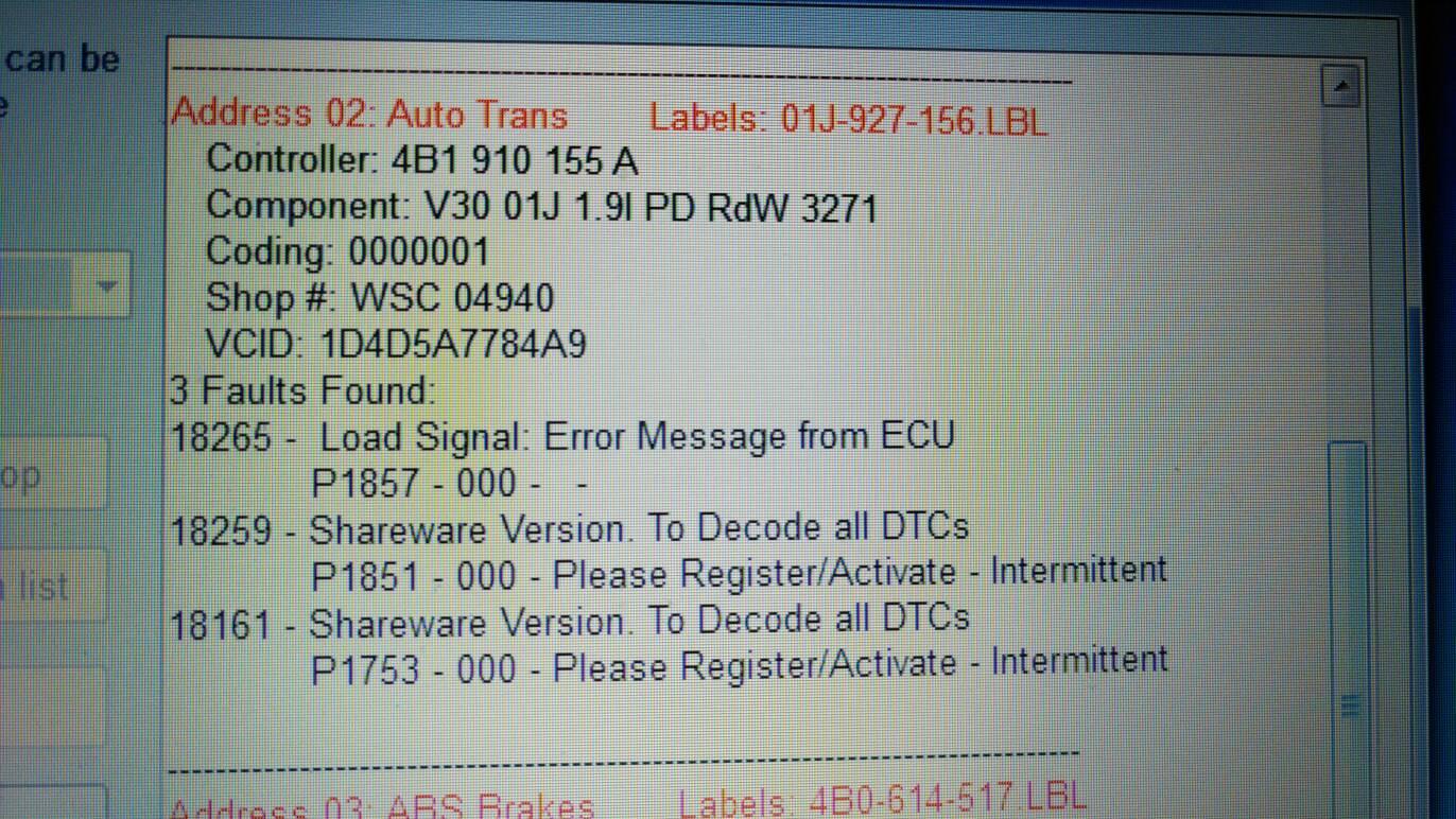 Dash error message - oil sensor + ESP