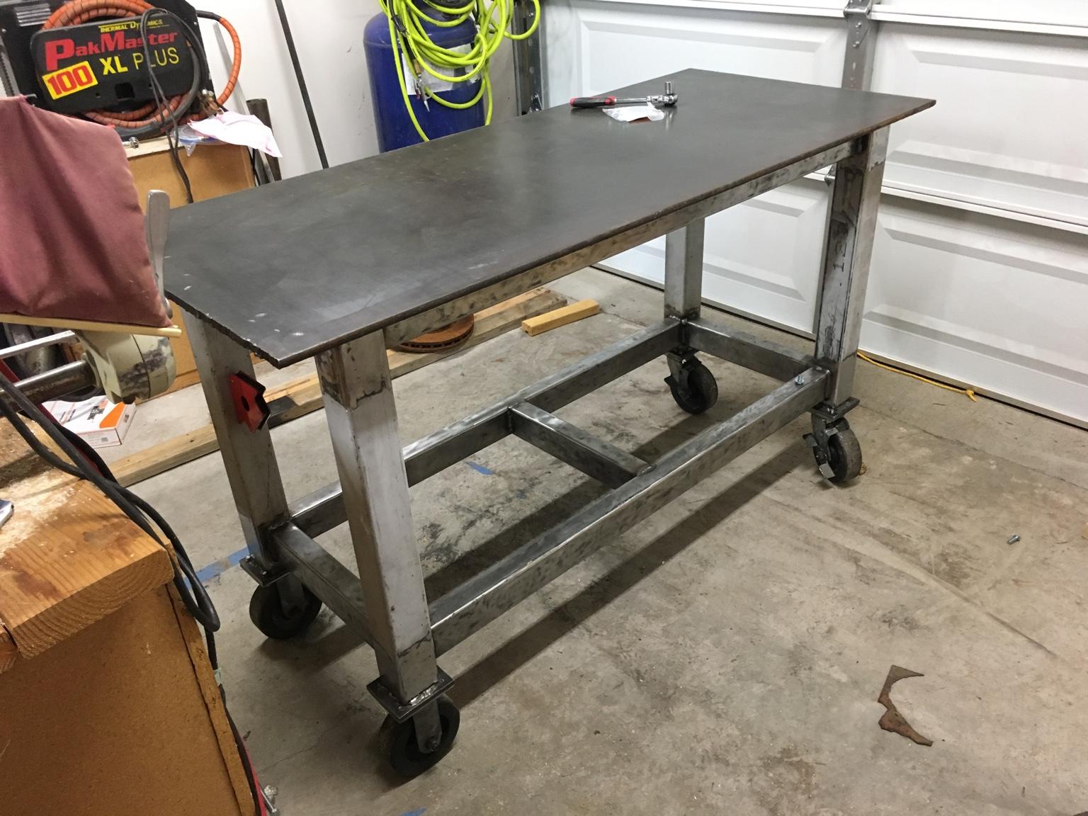 Как сделать стол из металлического профиля своими руками 39