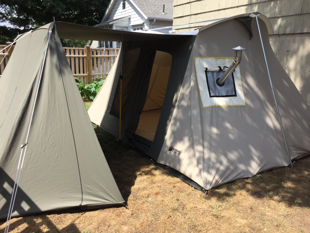 But more expensive not as warm not as much room. Kodiak or wall tent if only base c& but if you want the flexibility to pack it in get the tipi. & Kodiak canvas flex bow or cabin tent
