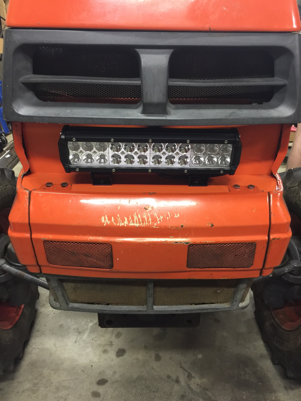Kubota Headlight Assembly : Busted light replacement orangetractortalks everything