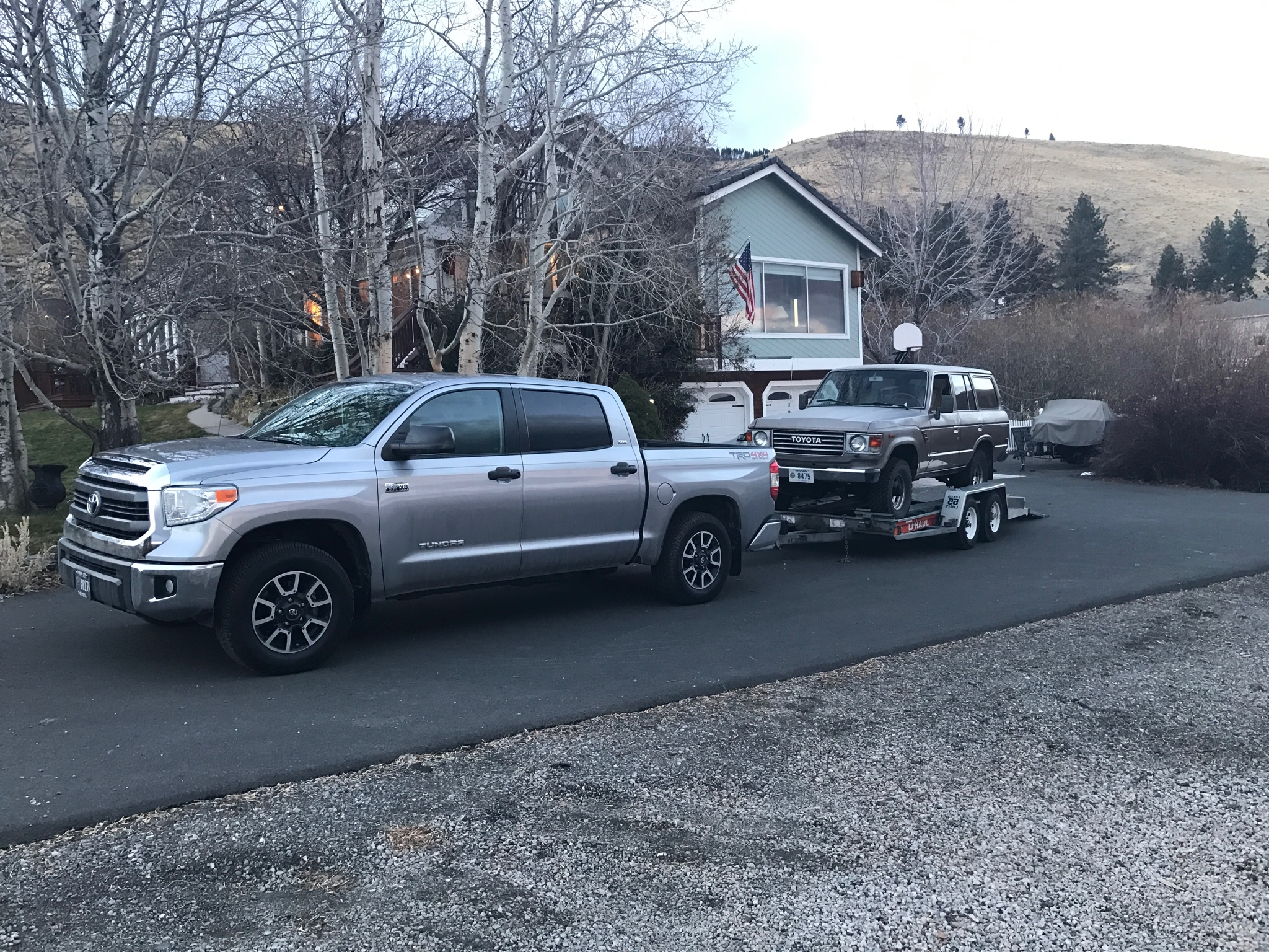 My crewmax got 12 13 towing my fj60 on a trailer that s crazy you re only getting 2 3 mpg better