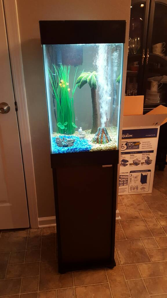 Aqueon 15 gallon column update 266040 for Aqueon fish tank