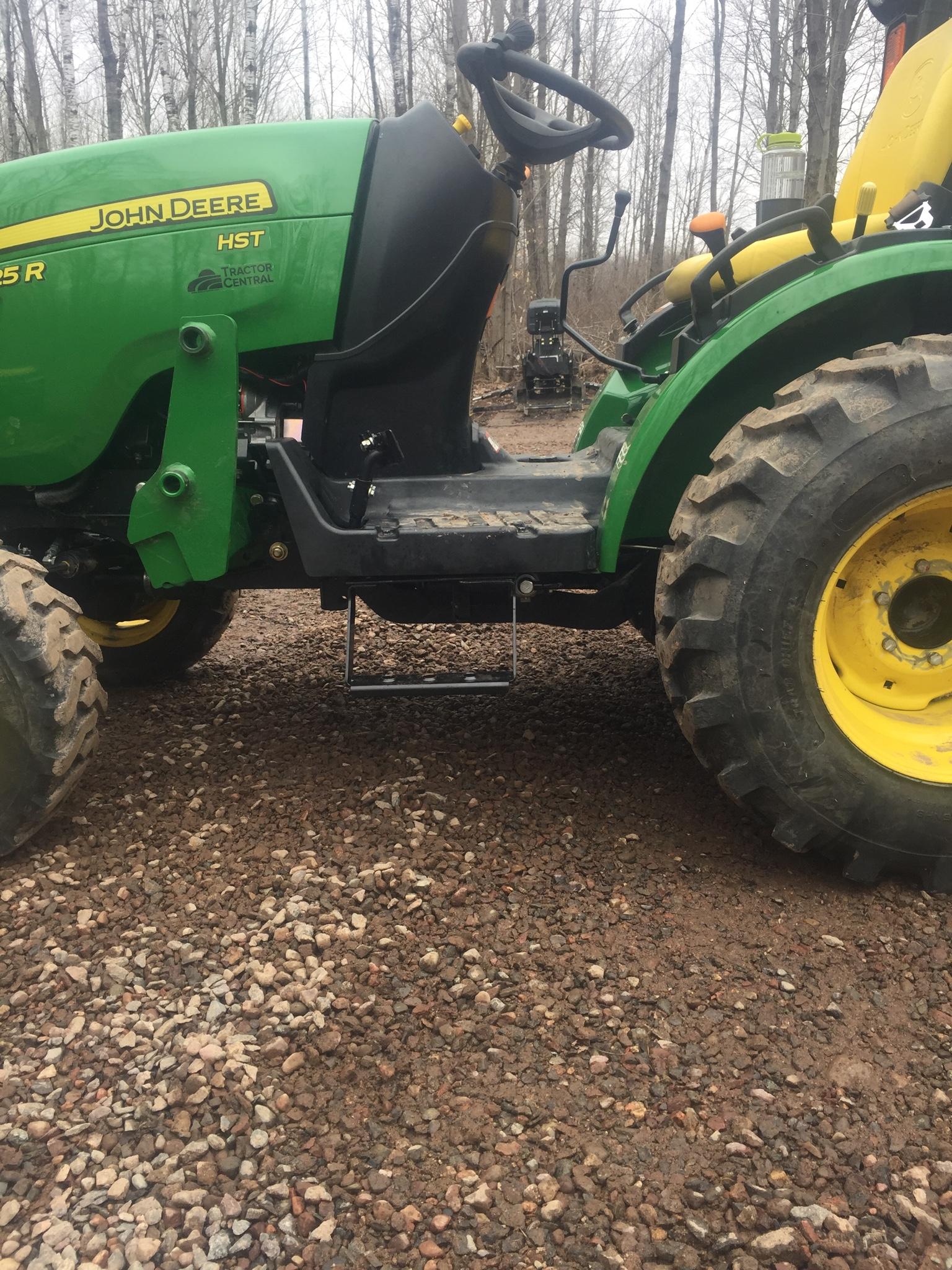 John Deere Rear Wheel Spacers : Installed step on r
