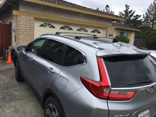 2017 CRV roof rails and cross bars review - Page 2