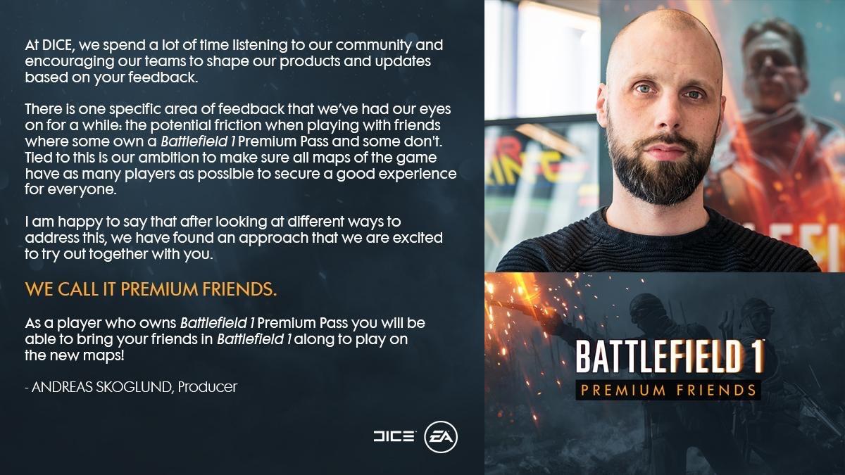 خدمة جديدة للاعبين Battlefield مسمى