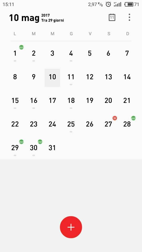 Rossi Sul Calendario.Calendario Meizi M3 Note Meizu M3 Note Androidiani