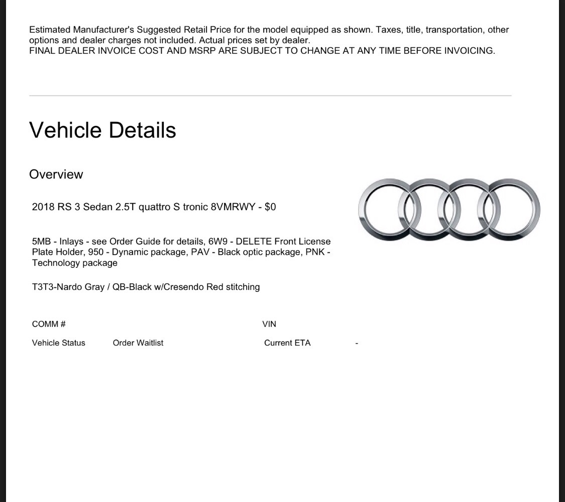 2018 audi order guide pdf. interesting pdf no discount through usaa not available for n american audi club no final  pricing and no piecemeal options only packages refundable payment made in 2018 audi order guide pdf h