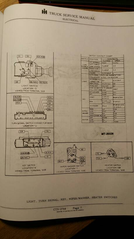 Pin Descriptions For 75 Scout Ii Ignition Switch