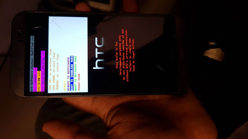 Htc m9 fail to boot