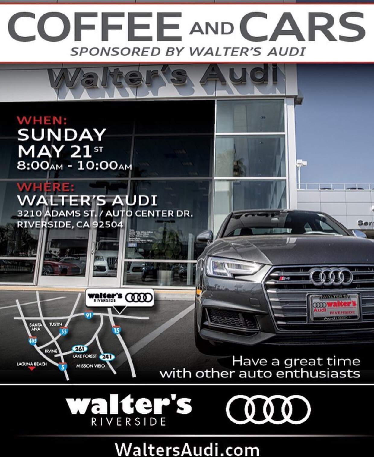 Cars And Coffee At Walters Audi (Riverside