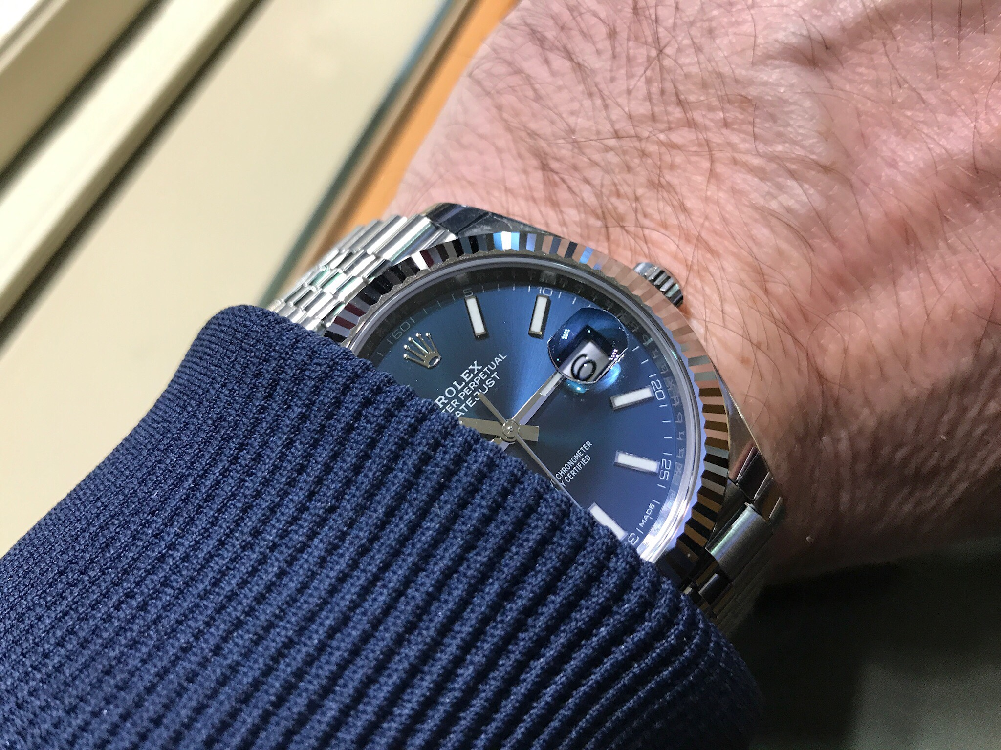 Rolex Datejust 41 Blue Dial 2017