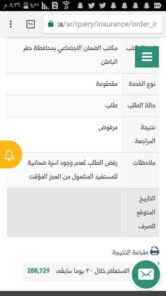 تم رفض طلبي على التقديم للمساعدة المقطوعة الشبكة السعودية لذوي الاعاقة