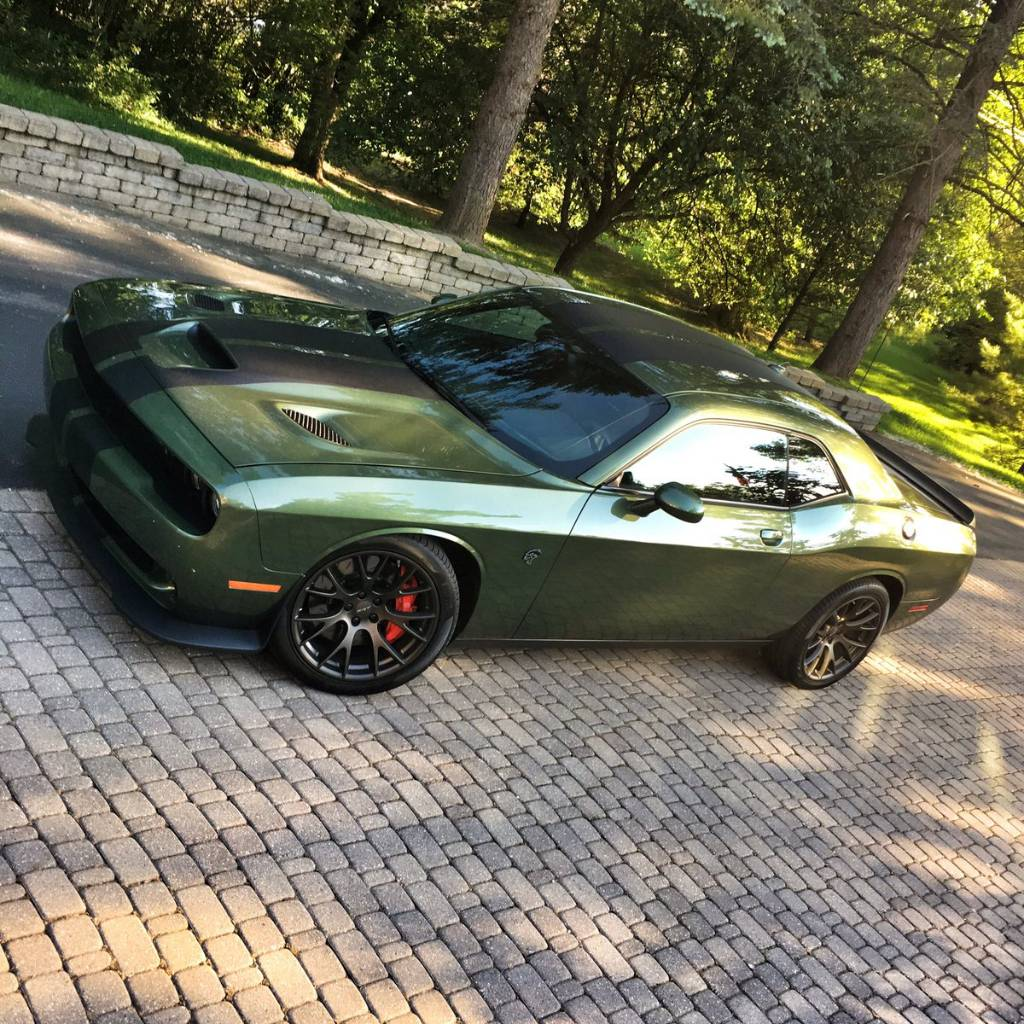 Demon painted in F8 Green? | SRT Hellcat Forum
