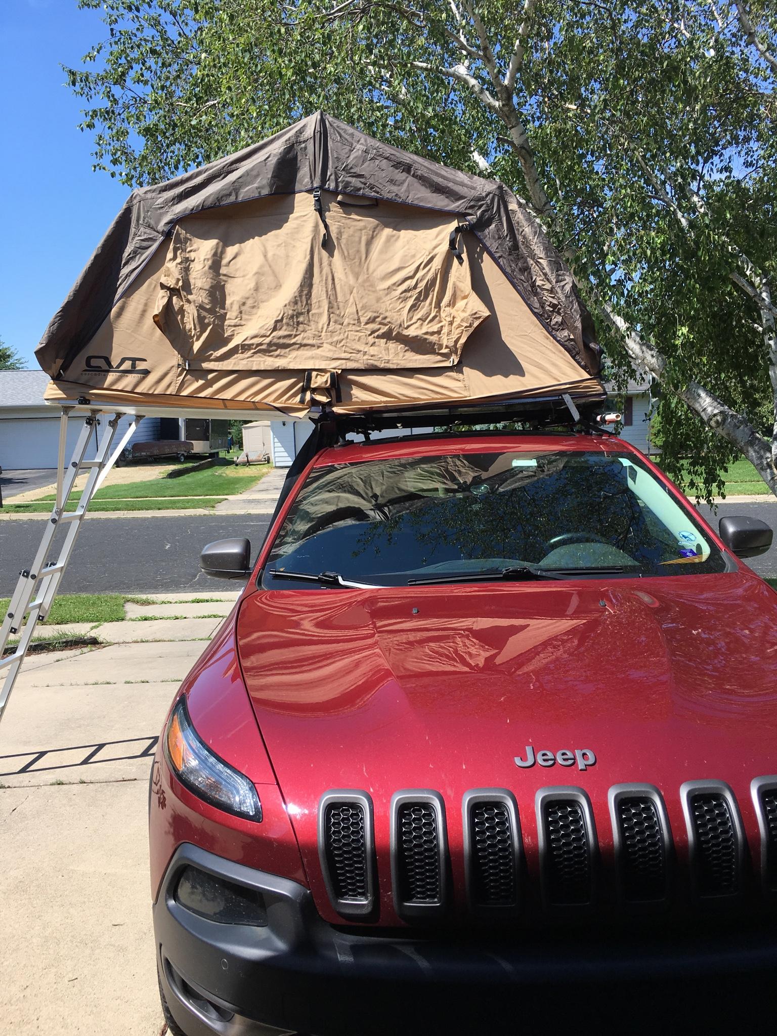 Got My Rtt In My Rro Roof Rack 2014 Jeep Cherokee Forums
