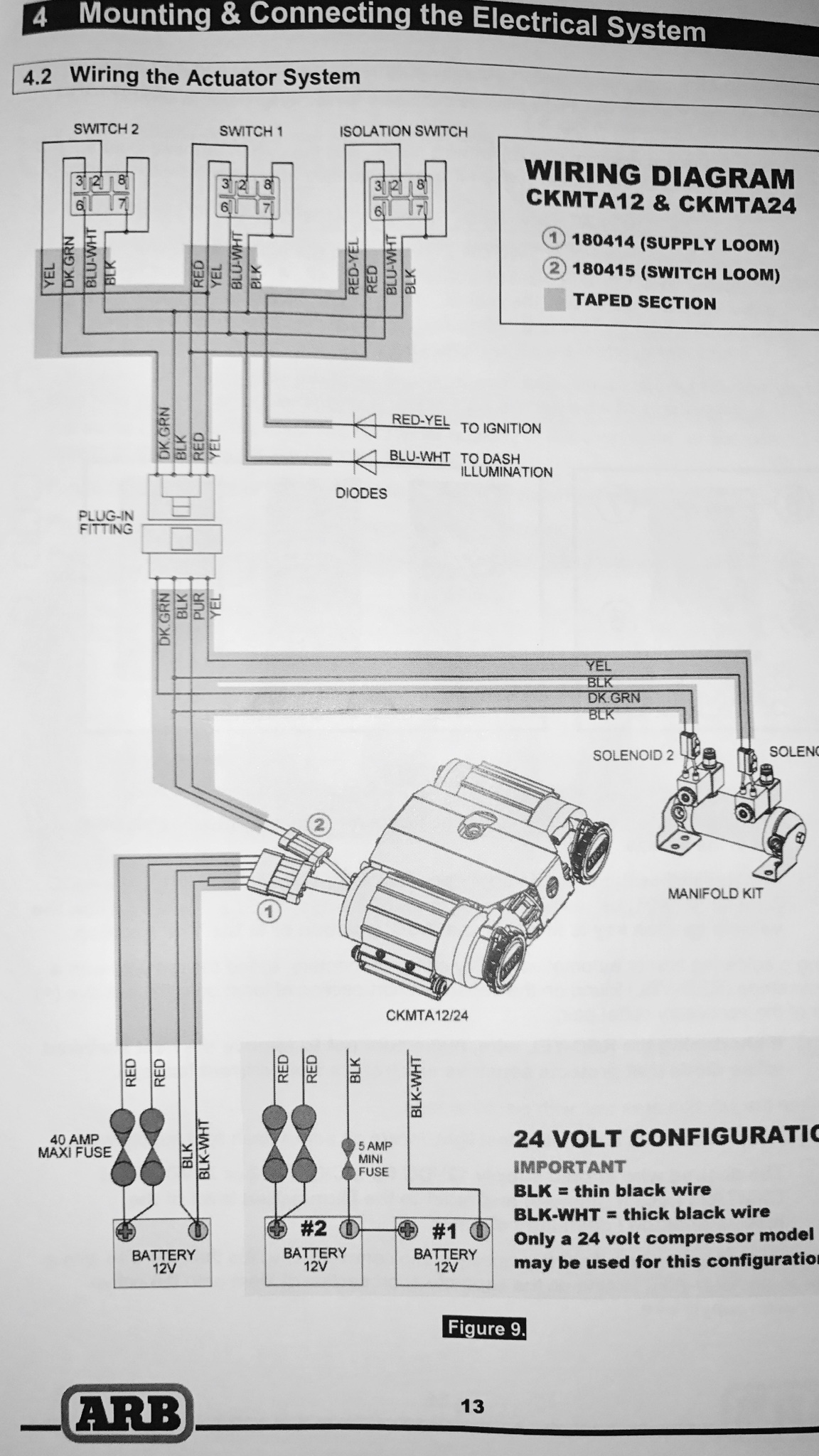 Wiring Diagram For Bristol Compressor : Arb twin compressor wiring diagram