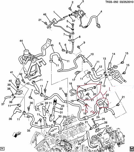 ford 6 0 fuel filter housing diagram