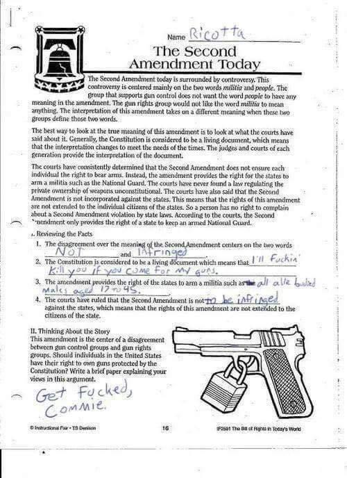 an interpretation of the second amendment regarding gun control