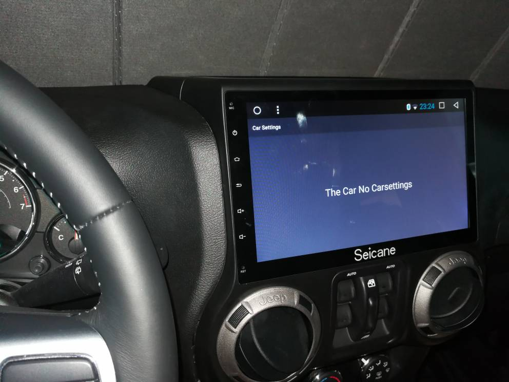 Seicane 10 1 Inch Android 6 0 Head Unit In A Jeep Wrangler