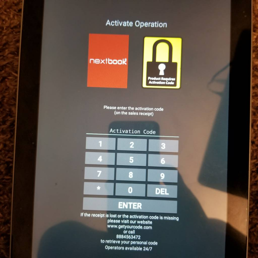 Need Activation Code For Nextbook Tablet