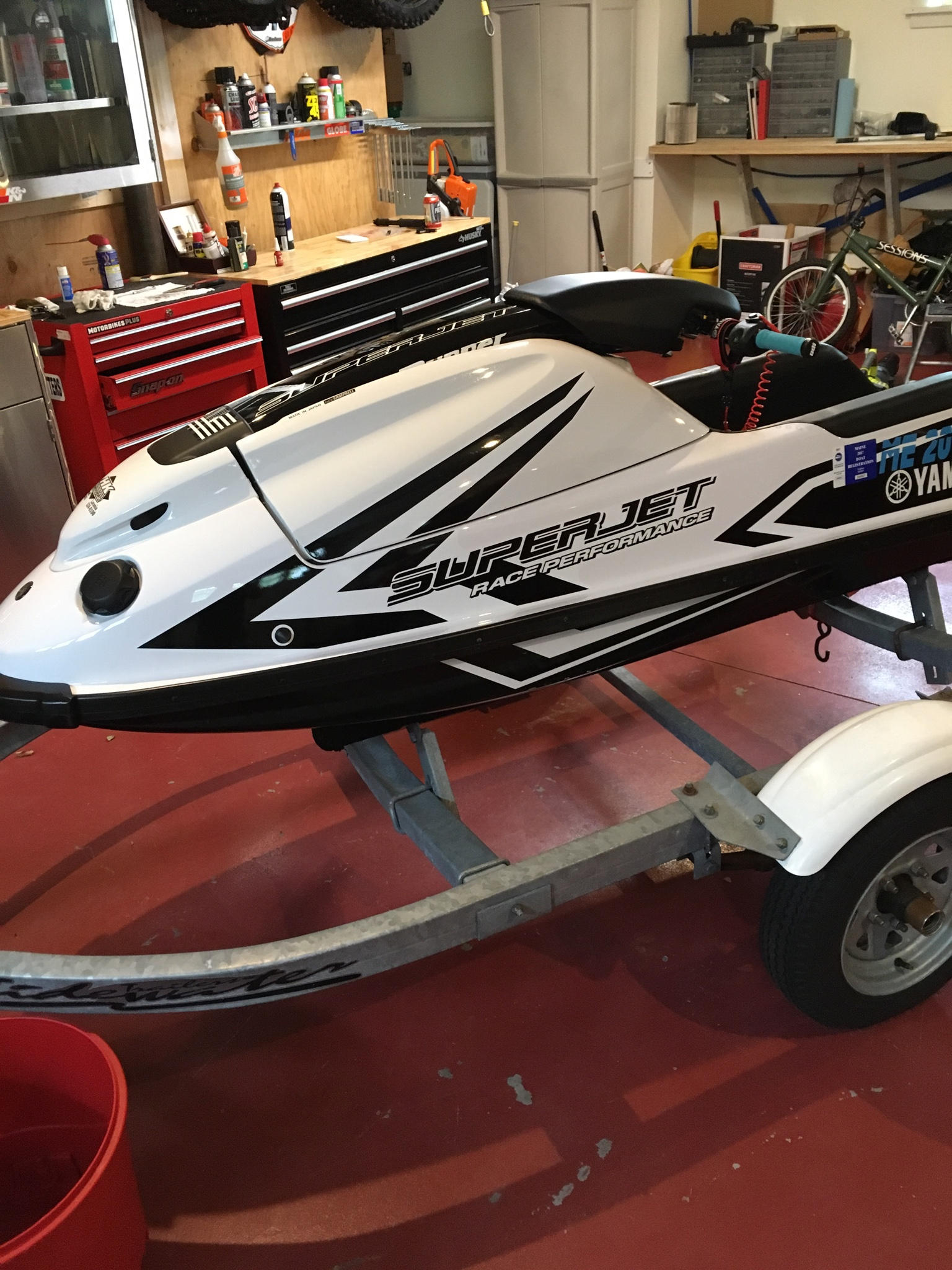 Used - 2017 superjet hull and pole/extras | X-H2o