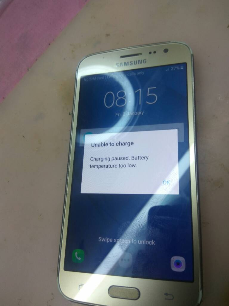 how to fix samsung galaxy s6 battery temperature too low
