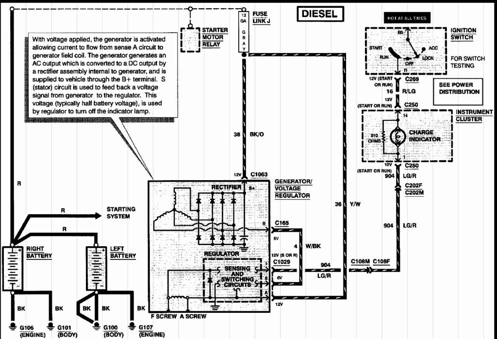 2000 7.3 powerstroke- voltage fluctuation after batteries ... 2000 f250 alternator wiring diagram 1977 ford f250 alternator wiring diagram