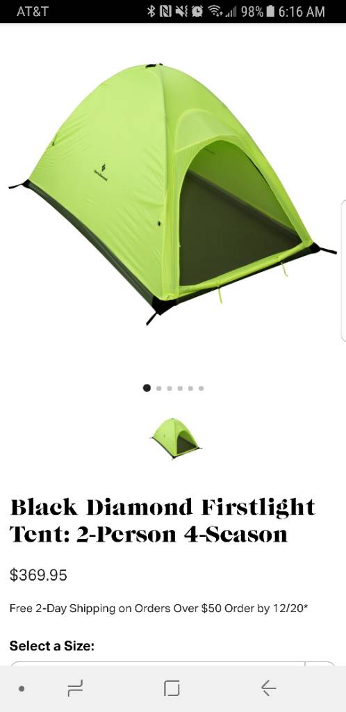 For all you overnight hunters I have a brand new Black Diamond first light 2 person tent for sale. Retails for 375$ and Iu0027m asking 250$  sc 1 st  Archery Talk & For Sale Black Diamond Tent!